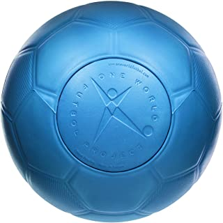 One World Play Project - Balón de fútbol indestructible - No explota, ni se rompe ni se deshincha - Material no tóxico - Azul - Tamaño 5 4.2 de 5 estrellas 432