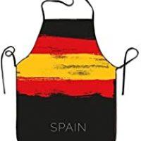 Delantal de Chef Personalizado Pinturas Coloridas en España para Mujeres Hombres Camarera Hornear Artesanía Jardinería Cocina Girlling Barbero Pinafore