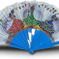 Fiesta Souvenirs 393129, Abanico para Sevillanas, Algodón y