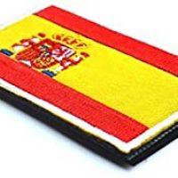 Fligatto Insignia de la Bandera de España Bordada Parche Bordado Parche de Ropa