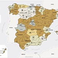 Maps Discover Mapa Diseñada con Tinta Rascable, Papel estucado, Multicolor, 65 x 45 cm