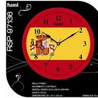 reloj de pared con bandera española