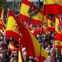 banderas de españa para manifestaciones